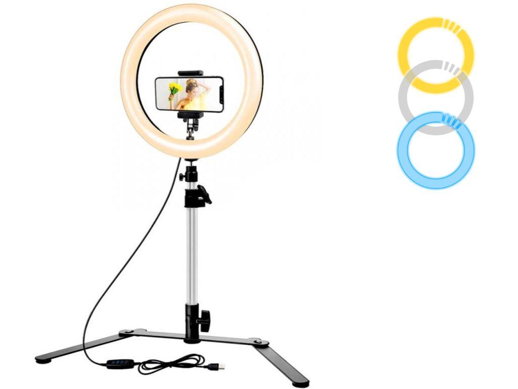 """26 cm Průměr 10 """"Kruhové Foto Světlo na Stůl pro Flat Lay"""