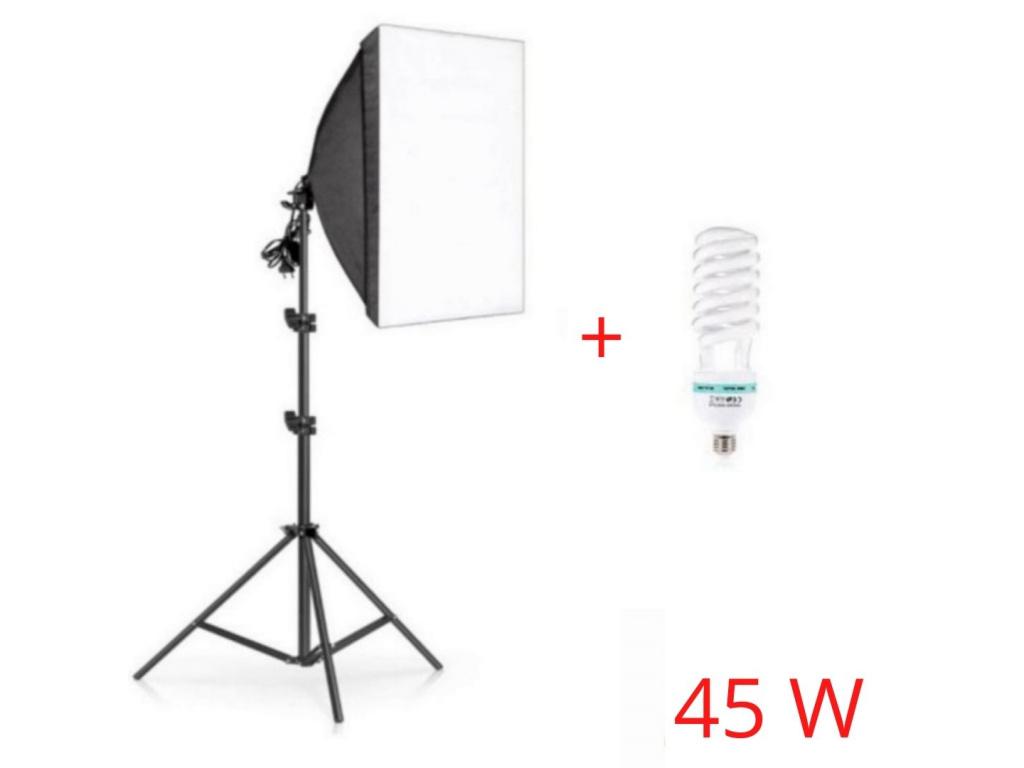 Foto Lampa Studio Softbox světlo + stativ + žárovka 45W