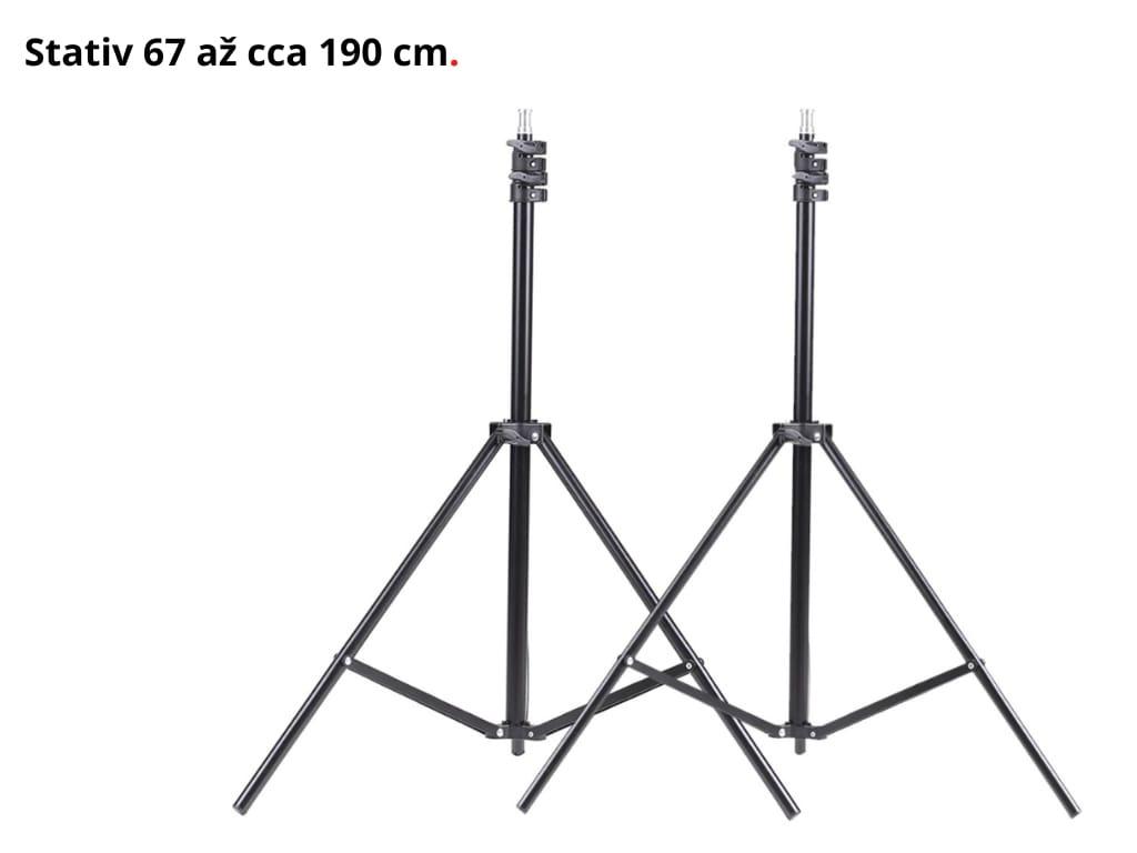 SET 2x Foto Deštník Lampa Fotostudio, Žárovka, Stativ 270W