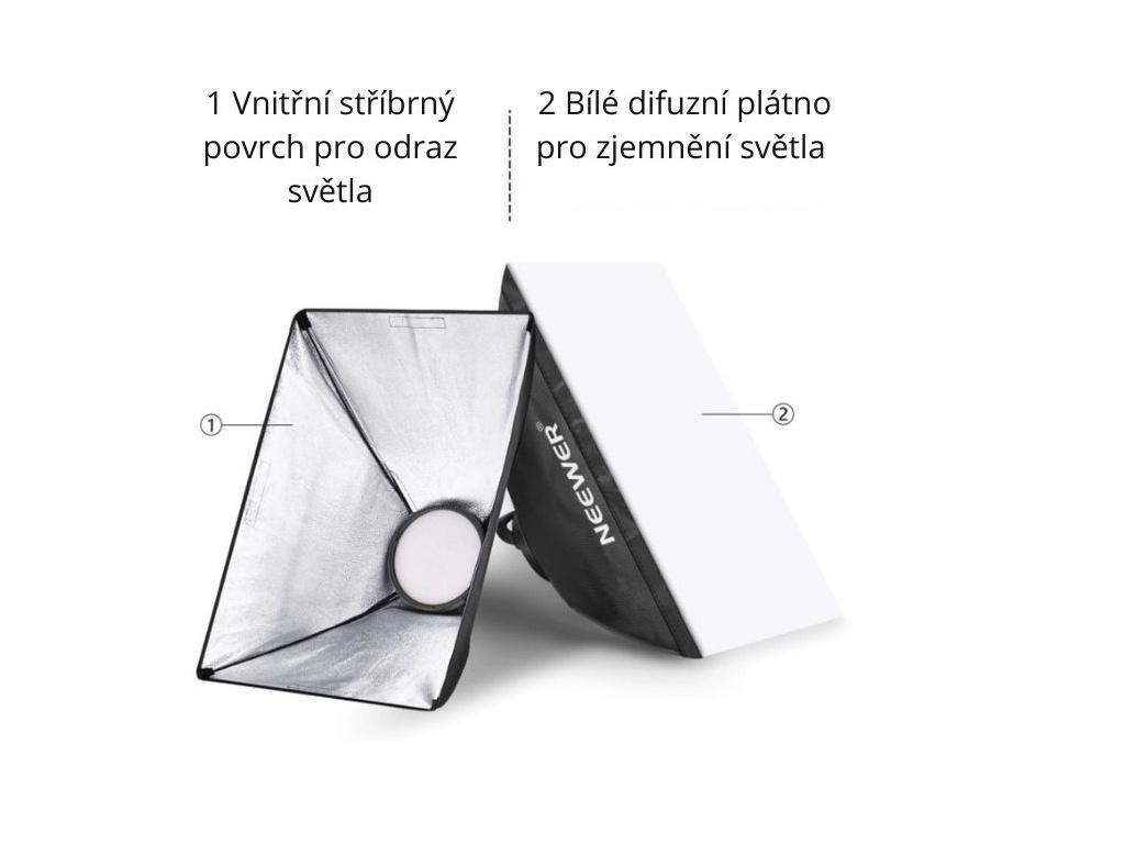 Foto Lampa Studio LED Softbox Světlo + Stativ