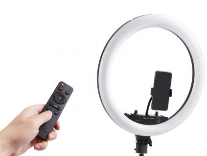 """45 cm Průměr 18"""" RGB Kruhové Foto Světlo + Stativ 200 cm + Ovladač"""