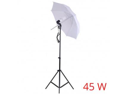 Foto Deštník Lampa Fotostudio, Žárovka, Stativ 45W