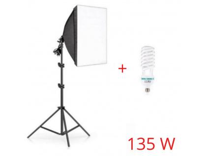 Foto Lampa Studio Softbox světlo + stativ + žárovka 135W