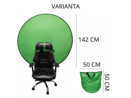 Zelené plátno Green screen Online Klíčování s nástavcem na křeslo