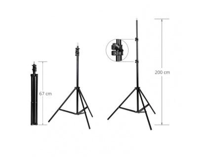 Foto Lampa Studio 2X LED Softbox Světlo + 2X Stativ