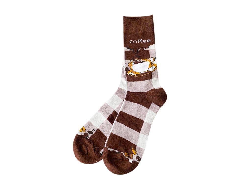Four Seasons ponožky Kafe
