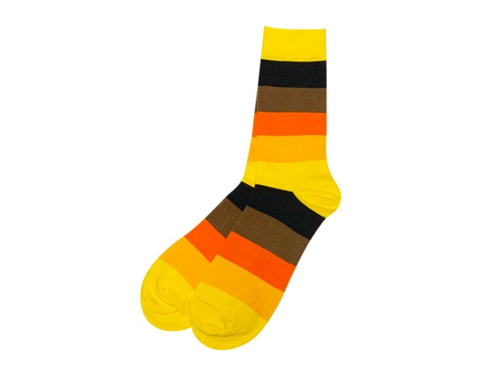 Four Seasons ponožky Pruhy oranžové