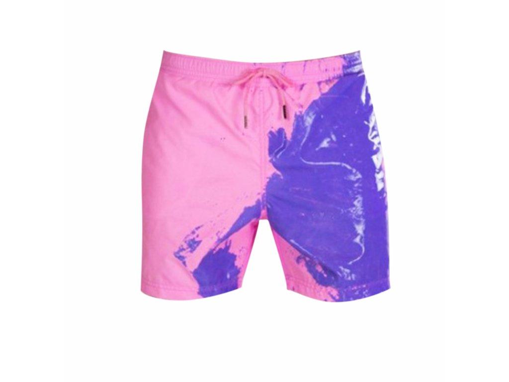 Pánské plavky měnící barvu, růžové