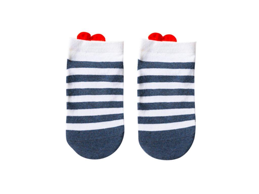 Four Seasons ponožky Srdce s proužky