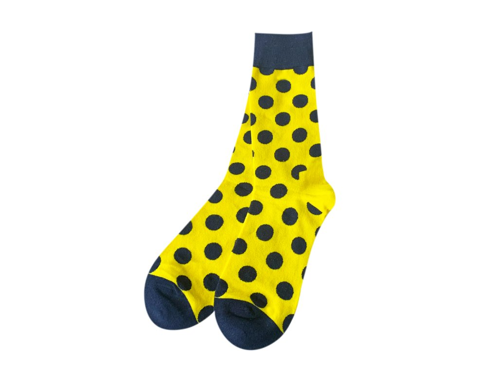 Four Seasons ponožky puntíky, žluté