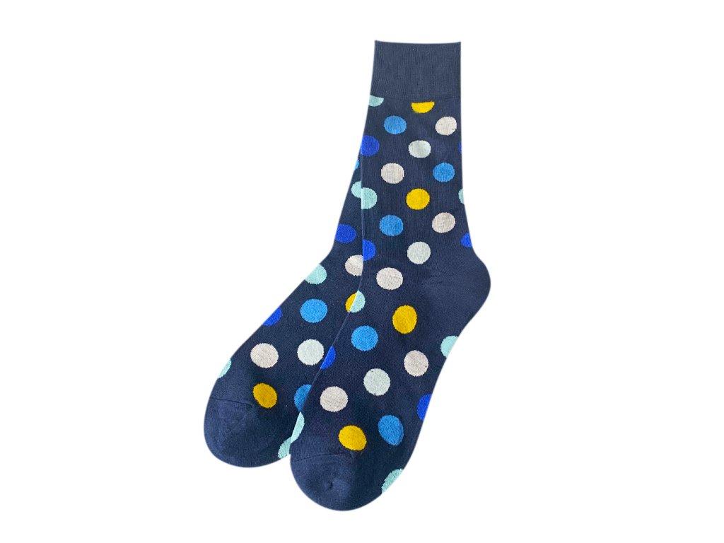 Four Seasons ponožky Barevné puntíky, modré