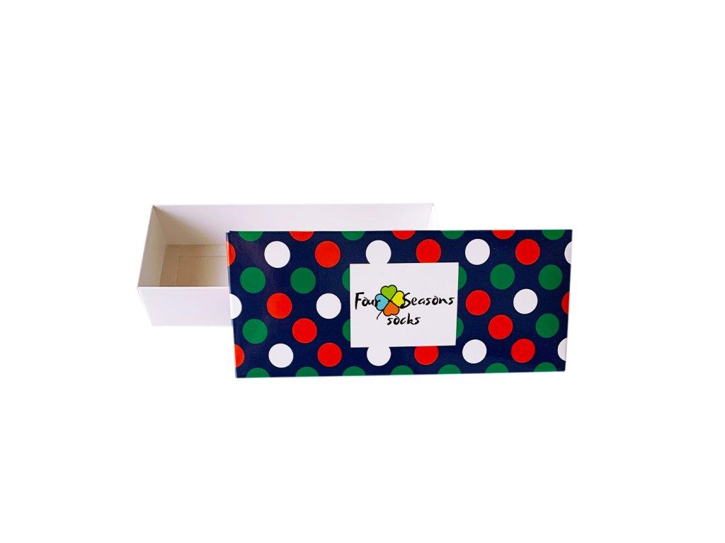 Dárková krabička s puntíky
