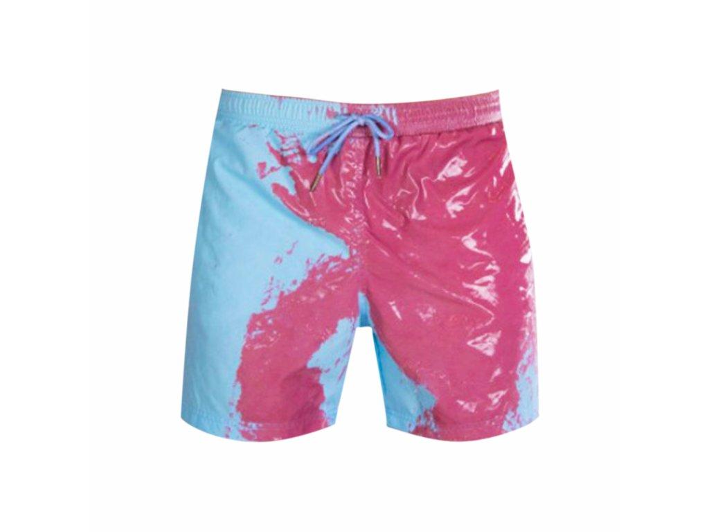 Pánské plavky měnící barvu, modré