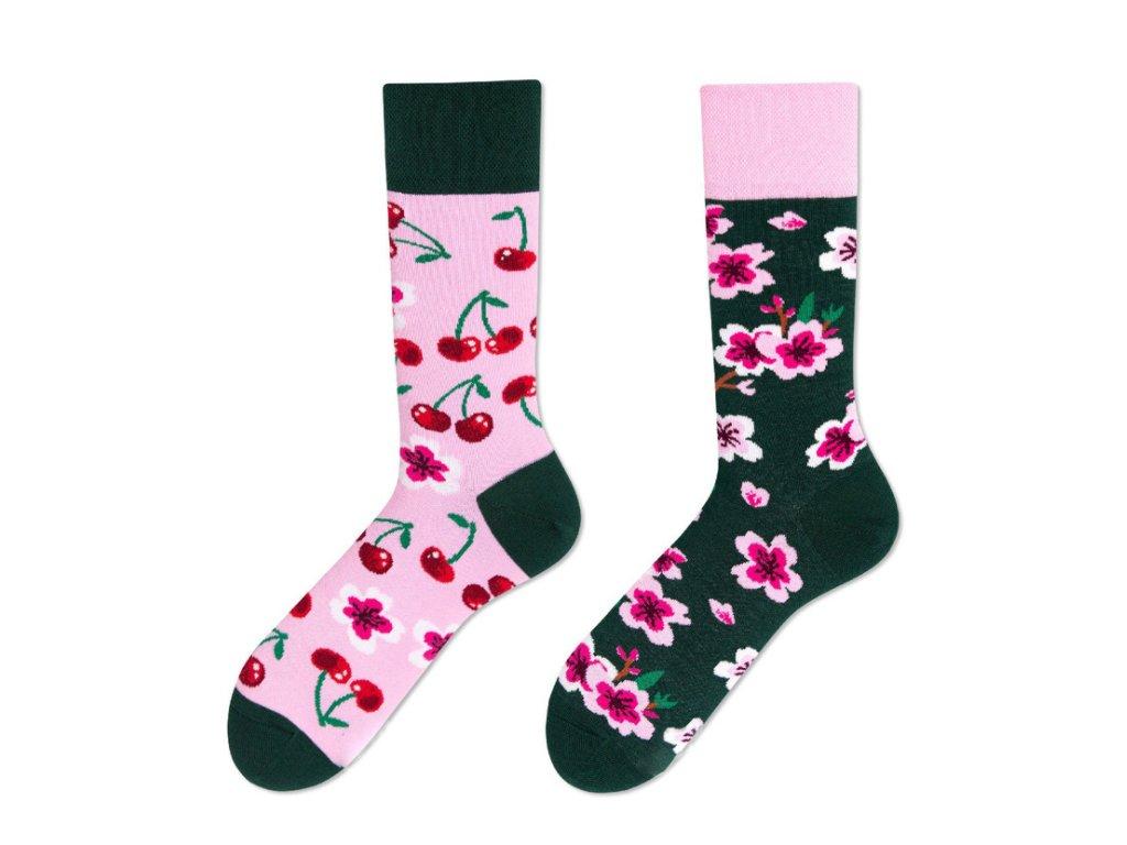 Four Seasons veselé ponožky Třešňový květ
