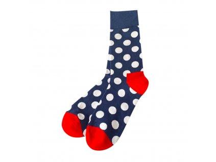 Four Seasons ponožky Bíle puntíky, modré