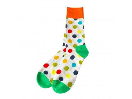 Four Seasons ponožky Barevné puntíky, bílé