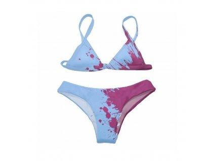 dámské plavky měnící barvu, modré
