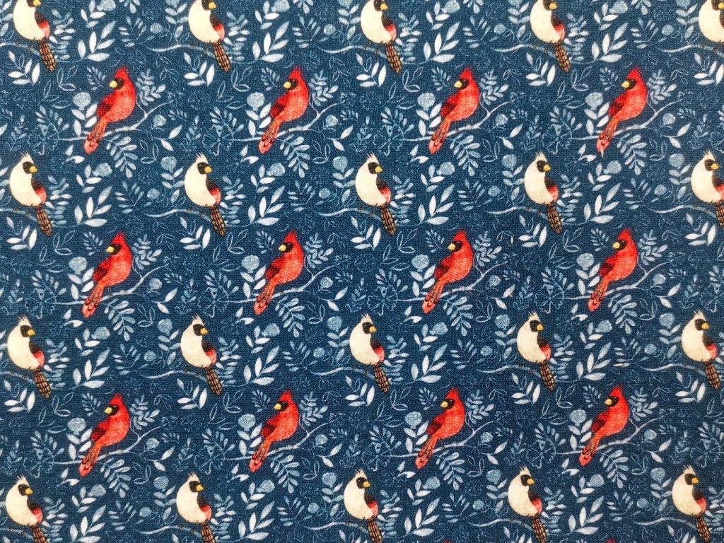 Teplákovina potisk - Ptáček Kardinál