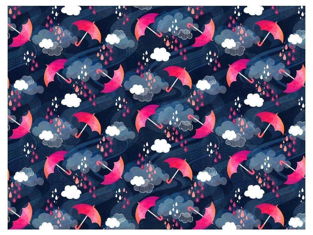 Zimní softshell PRUŽNÝ - Deštníky