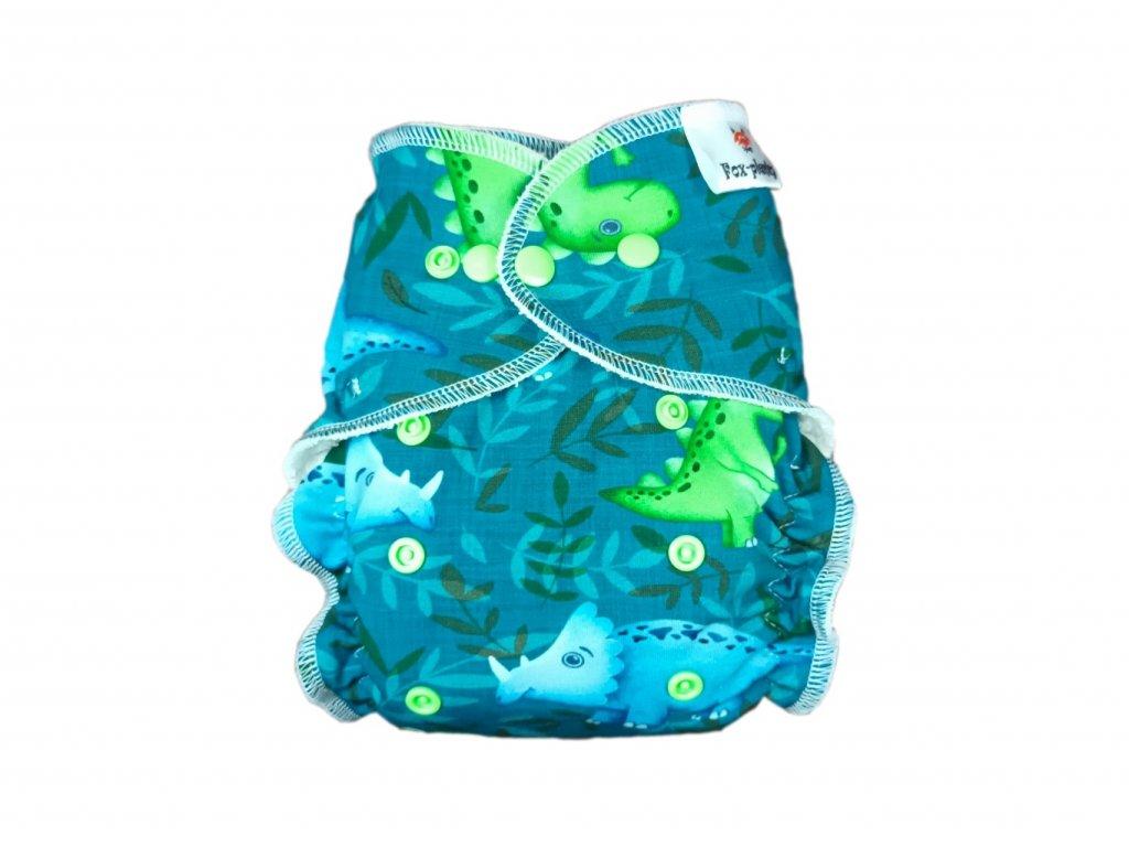 Jednovelikostní kalhotová plenka PAT růžové rostlinky