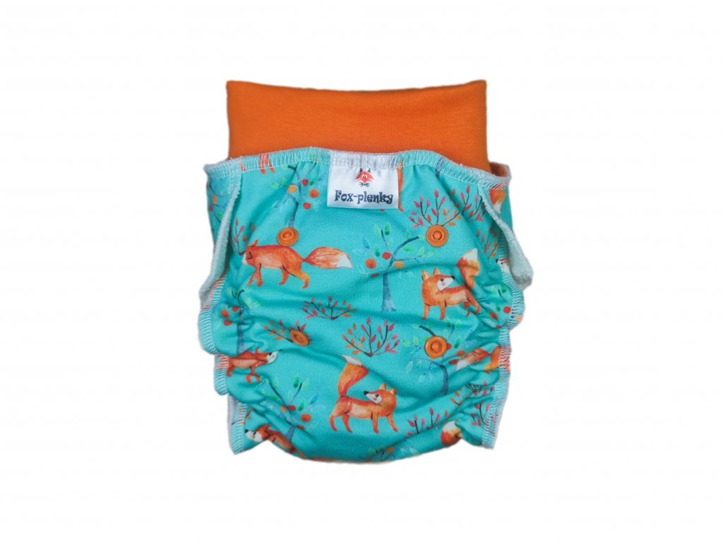 Natahovací kalhotovka červené květy PAT