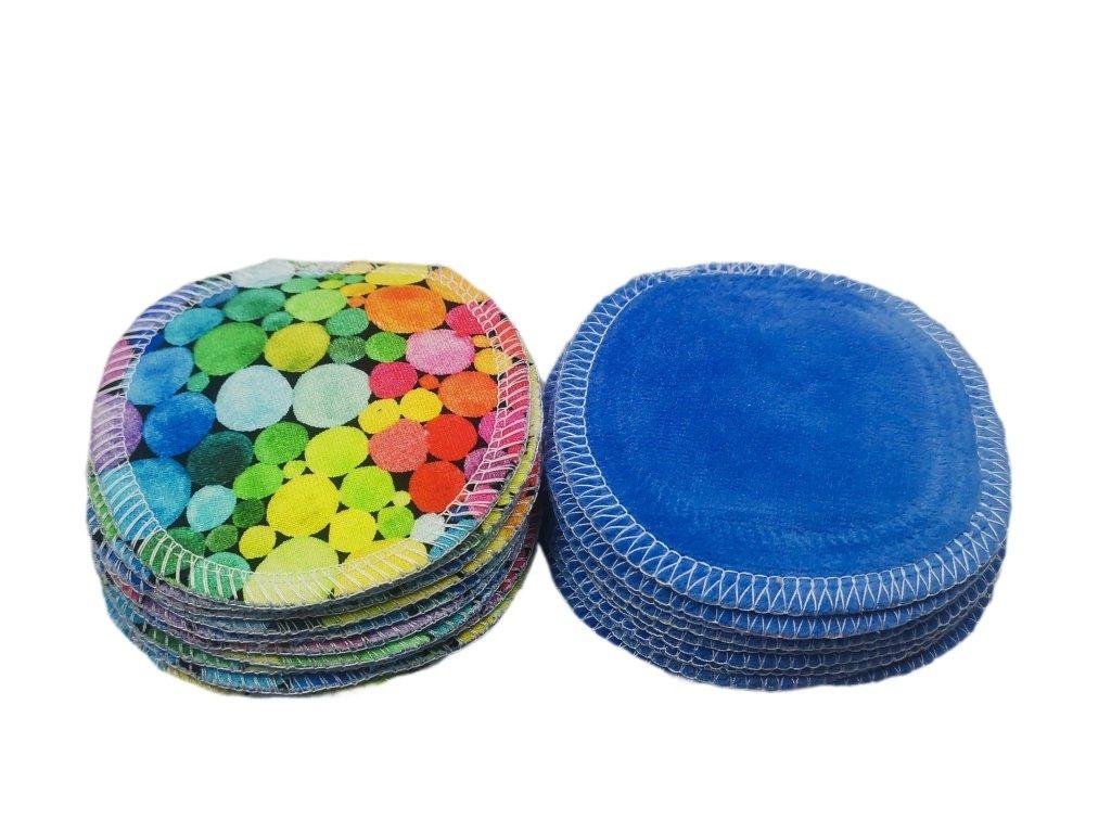 1 ks odličovací tampónek barevné puntíky - plyš