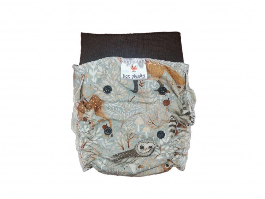 Natahovací kalhotovka fialové lístky PAT