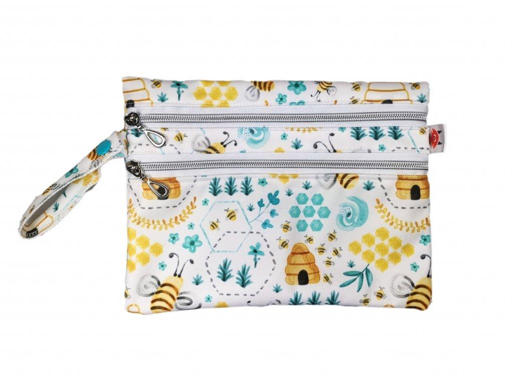Dvoukomorový PUL pytlík XS - Včelí úly
