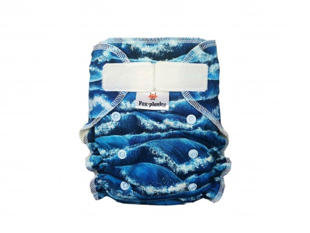 Jednovelikostní kalhotová plenka SZ mořské vlny
