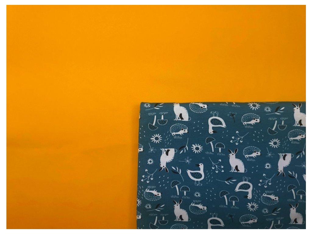 Tréninkové kalhotky - PŘEDOBJEDNÁVKA - žlutá + lesní zvířátka