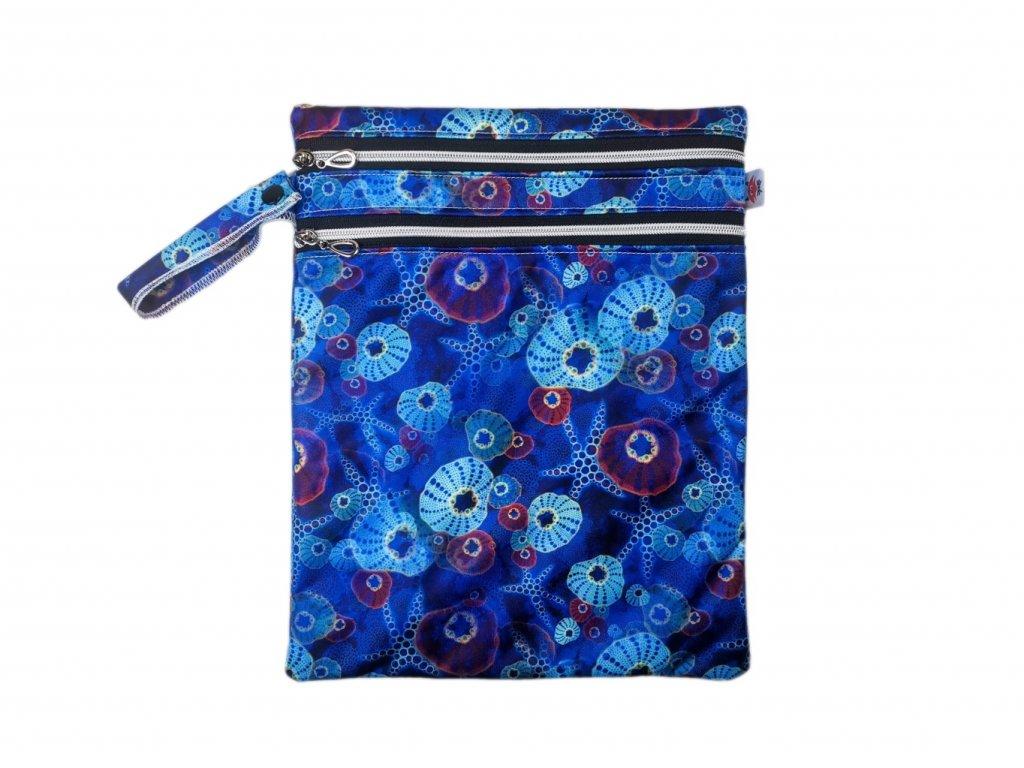 Dvoukomorový pul pytel MALÝ - modré vážky 25*30 cm