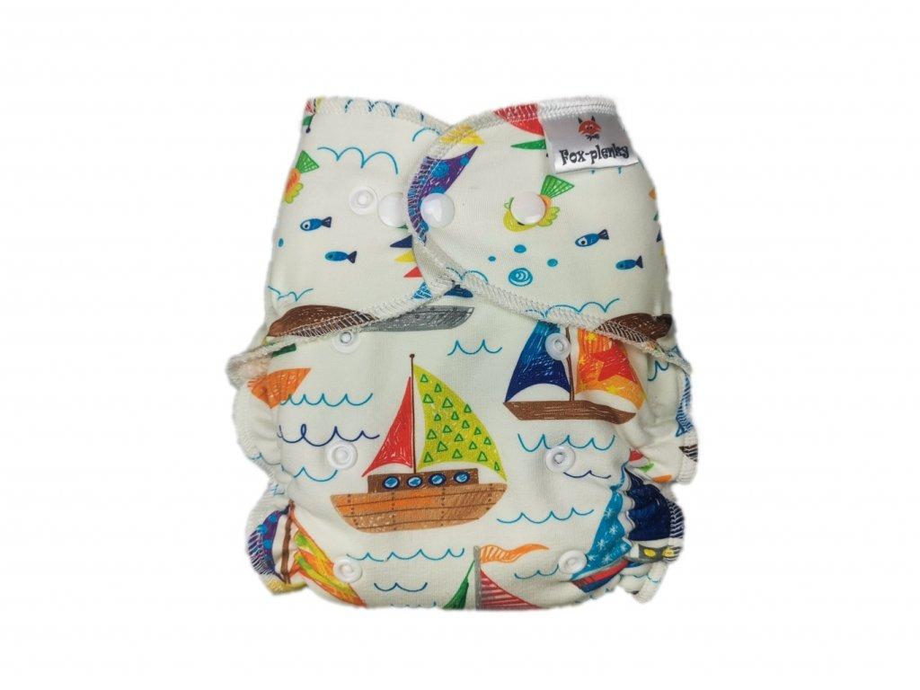 Jednovelikostní kalhotová plenka PAT plachetnice