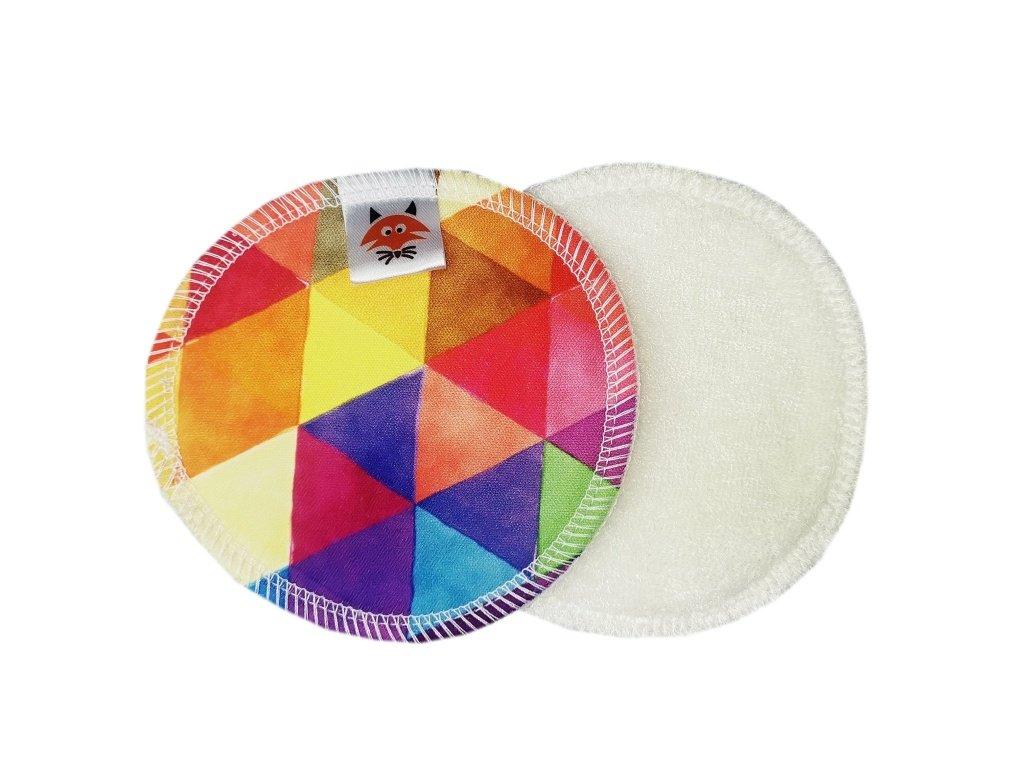 Vložky do podprsenky PUL barevné trojúhelníky