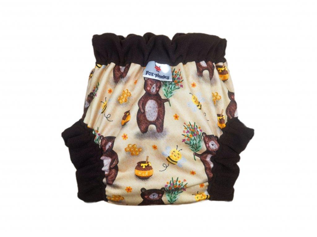 Natahovací svrchní Vel.L klasik pul - barevné květy