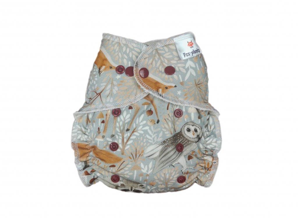 Jednovelikostní kalhotová plenka PAT mašličky