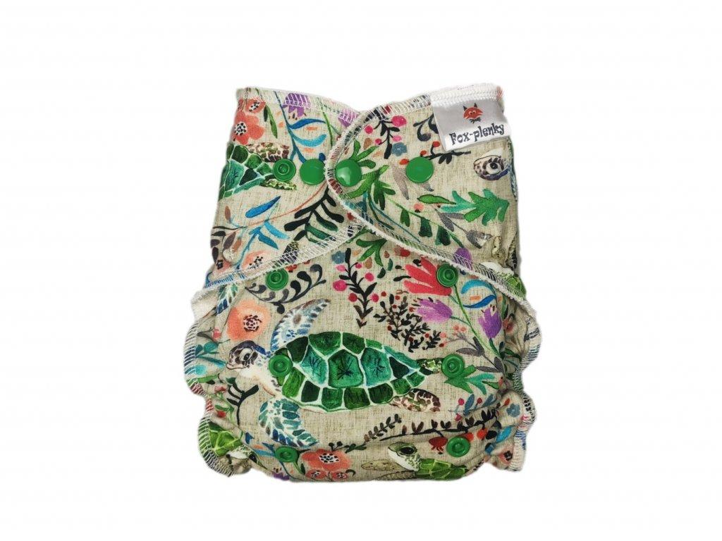 Jednovelikostní kalhotová plenka PAT želvy