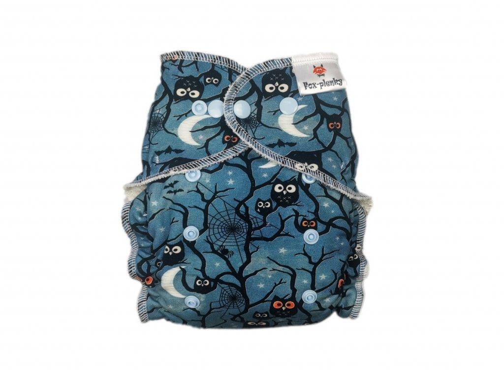 Jednovelikostní kalhotová plenka PAT modré ornamenty