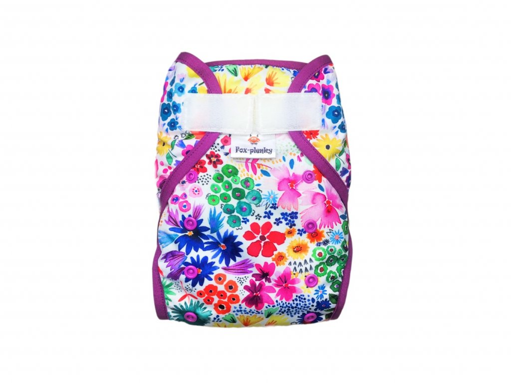 Svrchní kalhotky klasický PUL SZ barevné květy