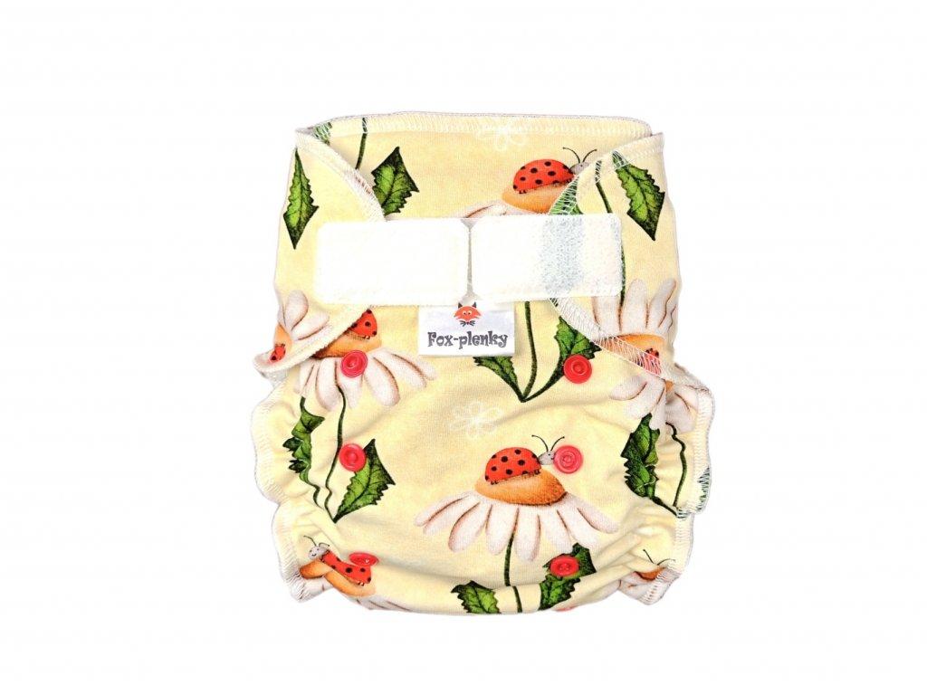 Jednovelikostní kalhotová plenka SZ houbičky