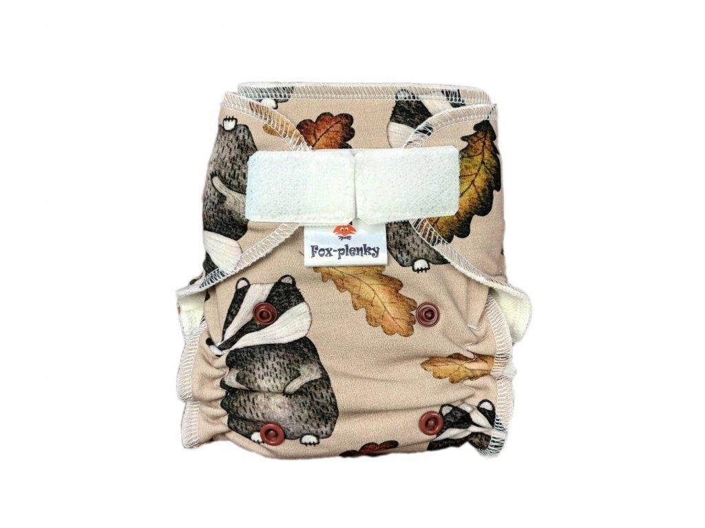 Novorozenecká kalhotovka SZ houbičky