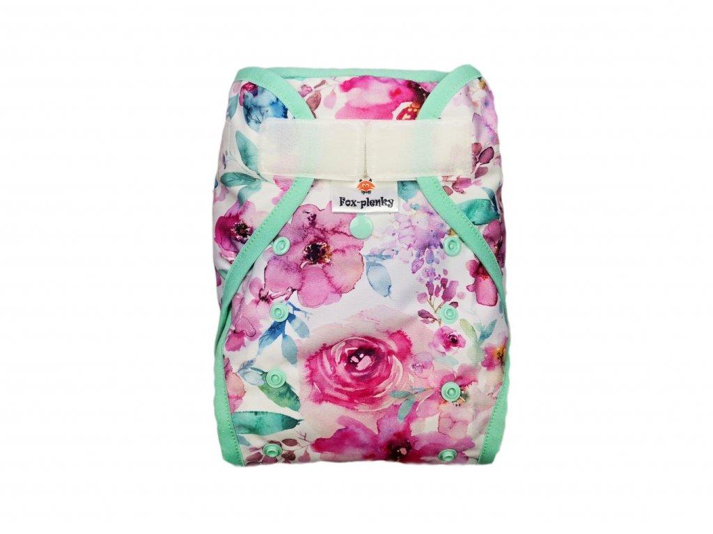 Svrchní kalhotky klasický PUL SZ akvarelové květy