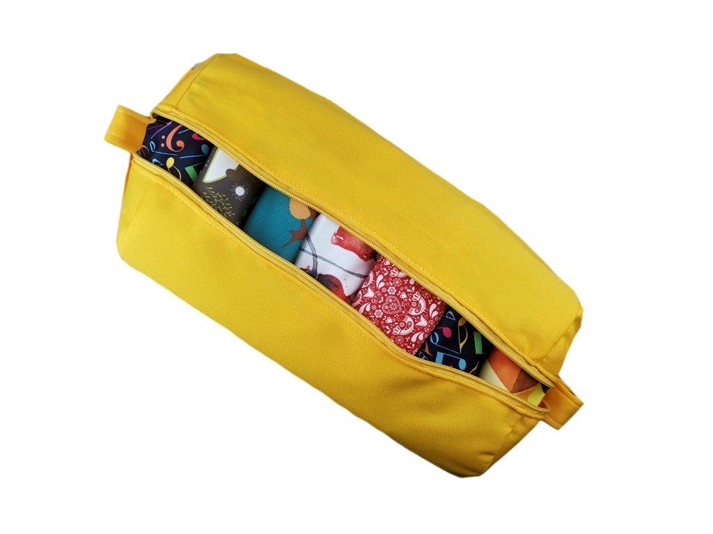 FoxVak taška na pleny jednobarevná - žlutá