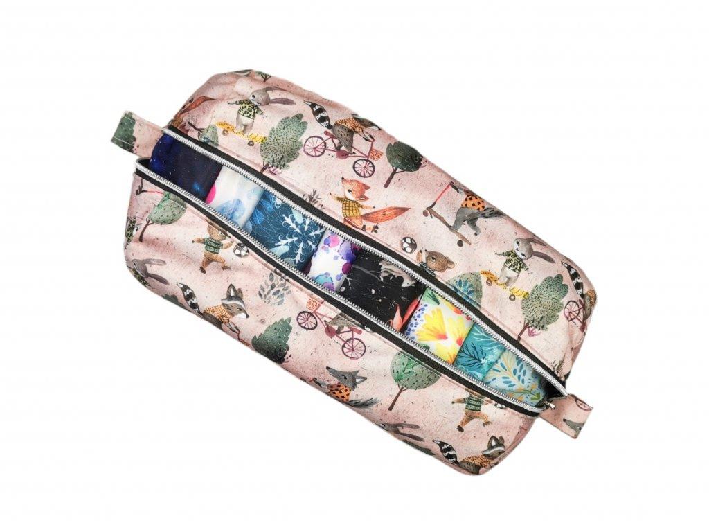 FoxVak PUL taška na pleny - zelené listy