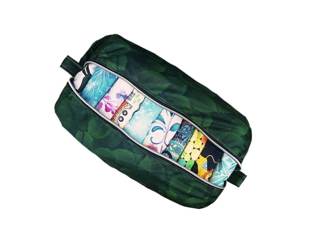 FoxVak taška na pleny - zelené listy