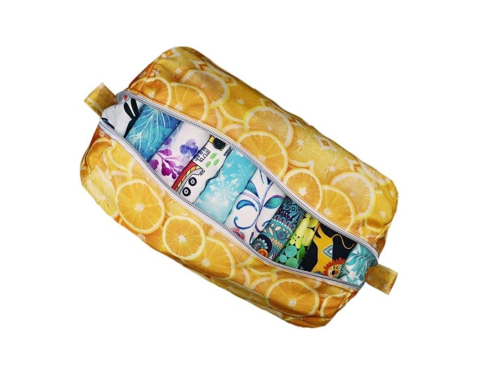 FoxVak PUL taška na pleny - pomeranče