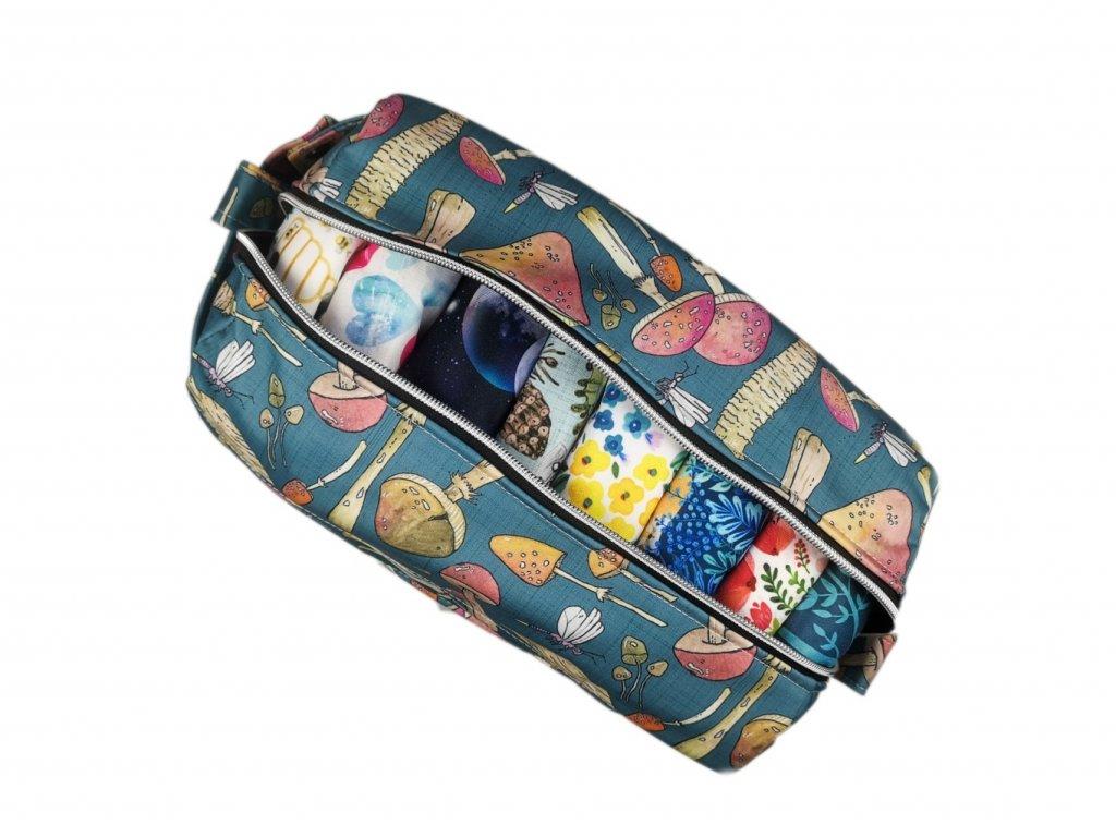 FoxVak SOFT taška na pleny - houbičky