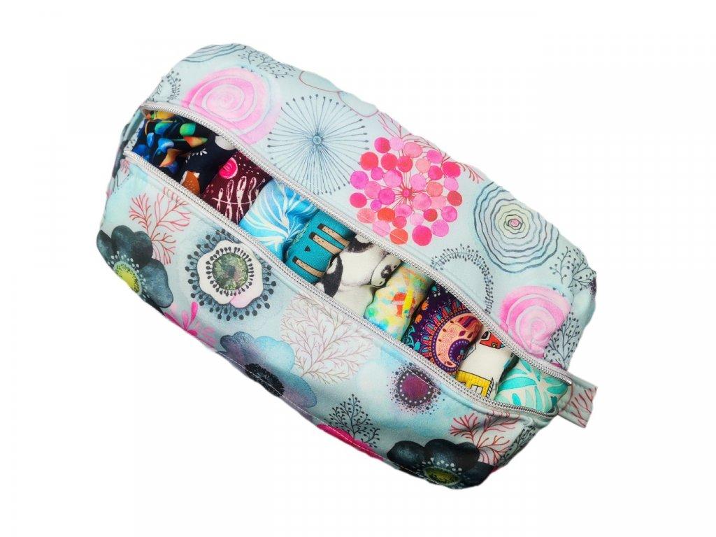 FoxVak SOFT taška na pleny - růžové kytičky