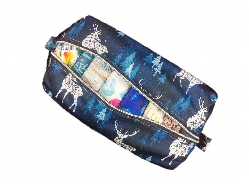 FoxVak SOFT taška na pleny - jeleni v modrém lese