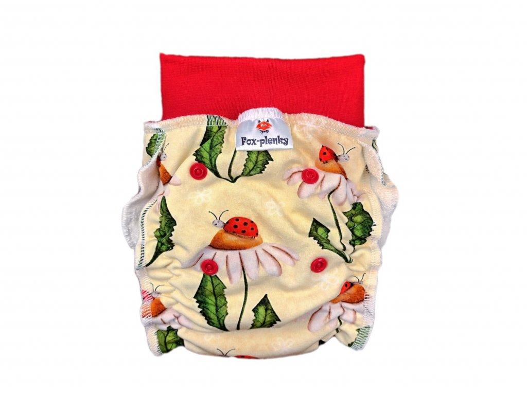 Natahovací kalhotovka barevné ornamenty PAT