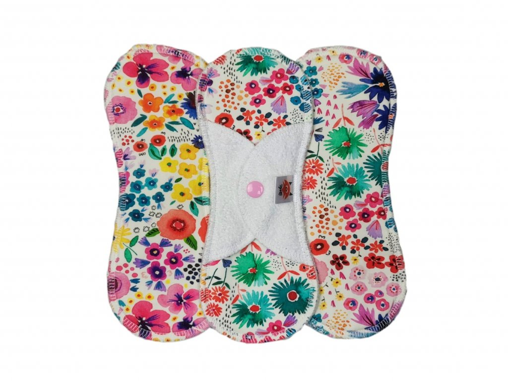 Intim PUL barevné květy - úplet